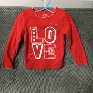 Carter's Toddler Girls LOVE Shirt size 5